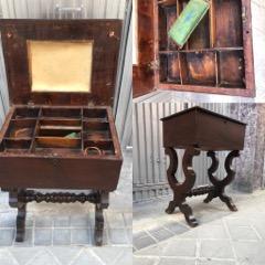 Conservación y restauración de un costurero español S XVIII-XIX